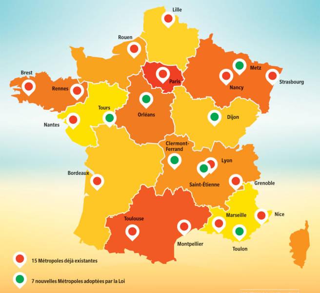 Le dynamisme des métropoles régionales