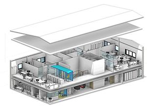Renovation d'immeuble d'entreprise avec iXref