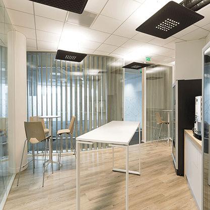 Zoom sur l'espace Café amenagé pour Vinci Neuilly-sur-Seine