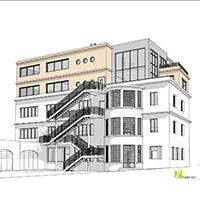 Projet 2 de l'aménagement de la facade de Biologique Recherche